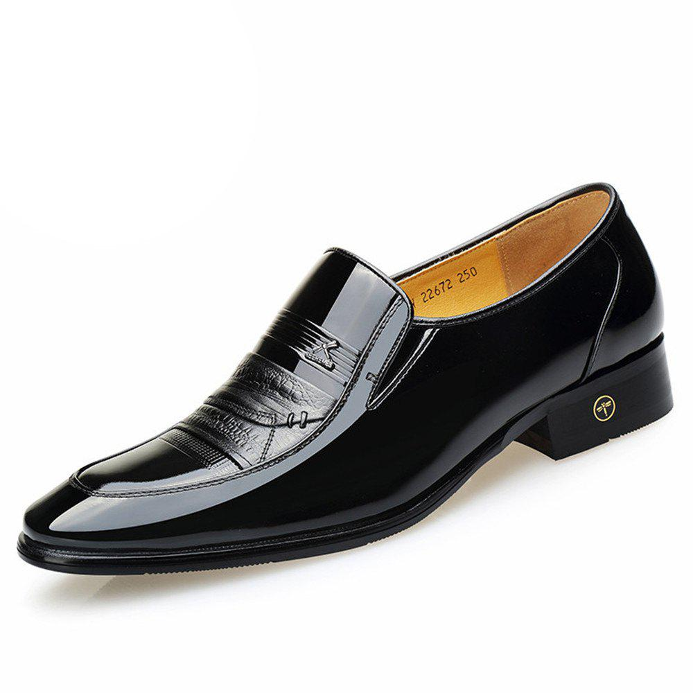 Outfit Autumn Men Business Suits Paint Bright Skin Party Shoes Slip-On Shoes Wedding Sh