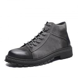 Men Boots Keep Warm Casual Shoes High Increased Mesh Shoes -