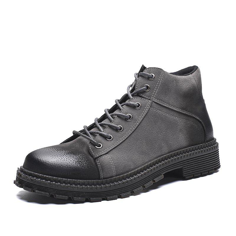 New Men Boots Keep Warm Casual Shoes High Increased Mesh Shoes