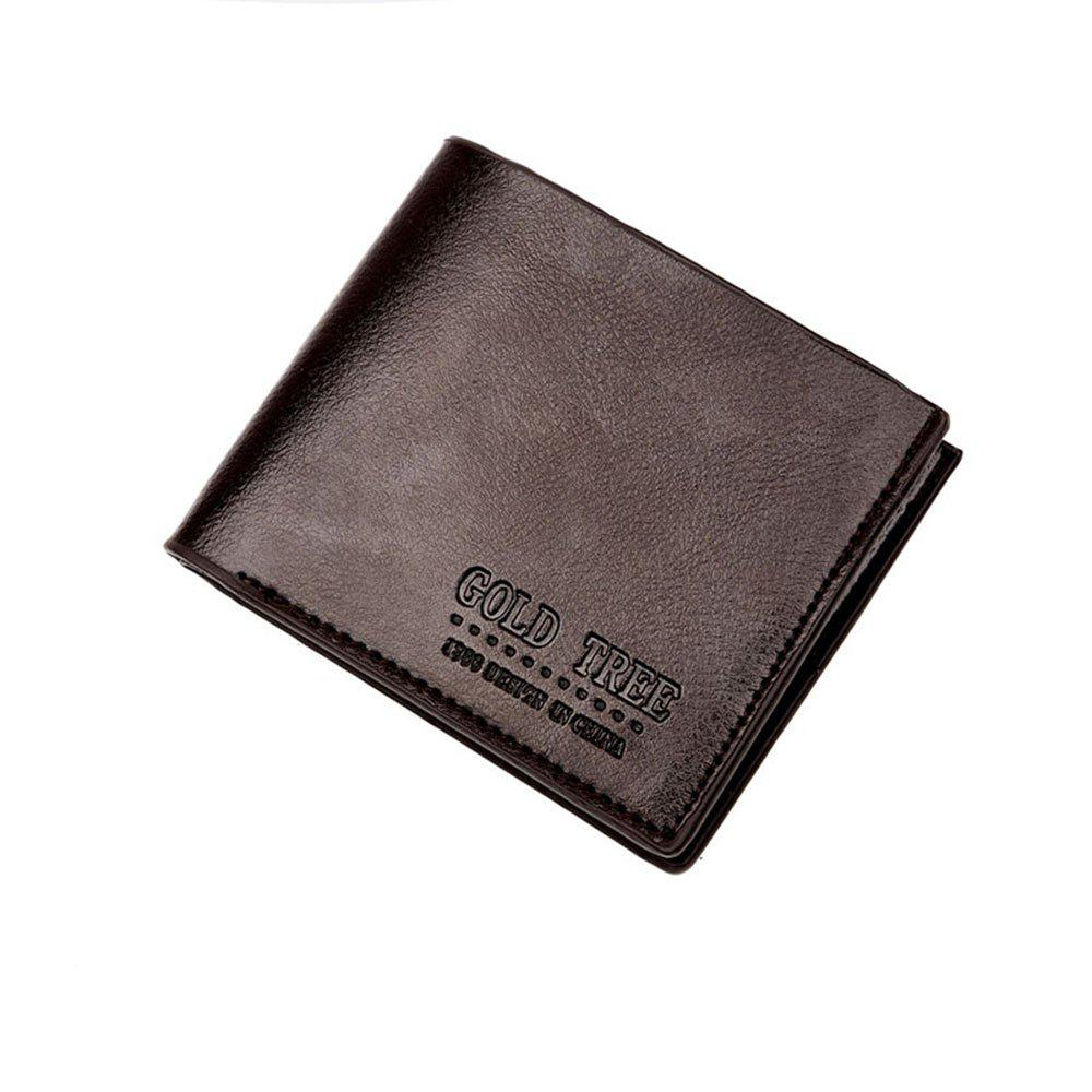 Online Fashion Quality Men'S Short Wallet High Quality PU Skin Hand Bag.