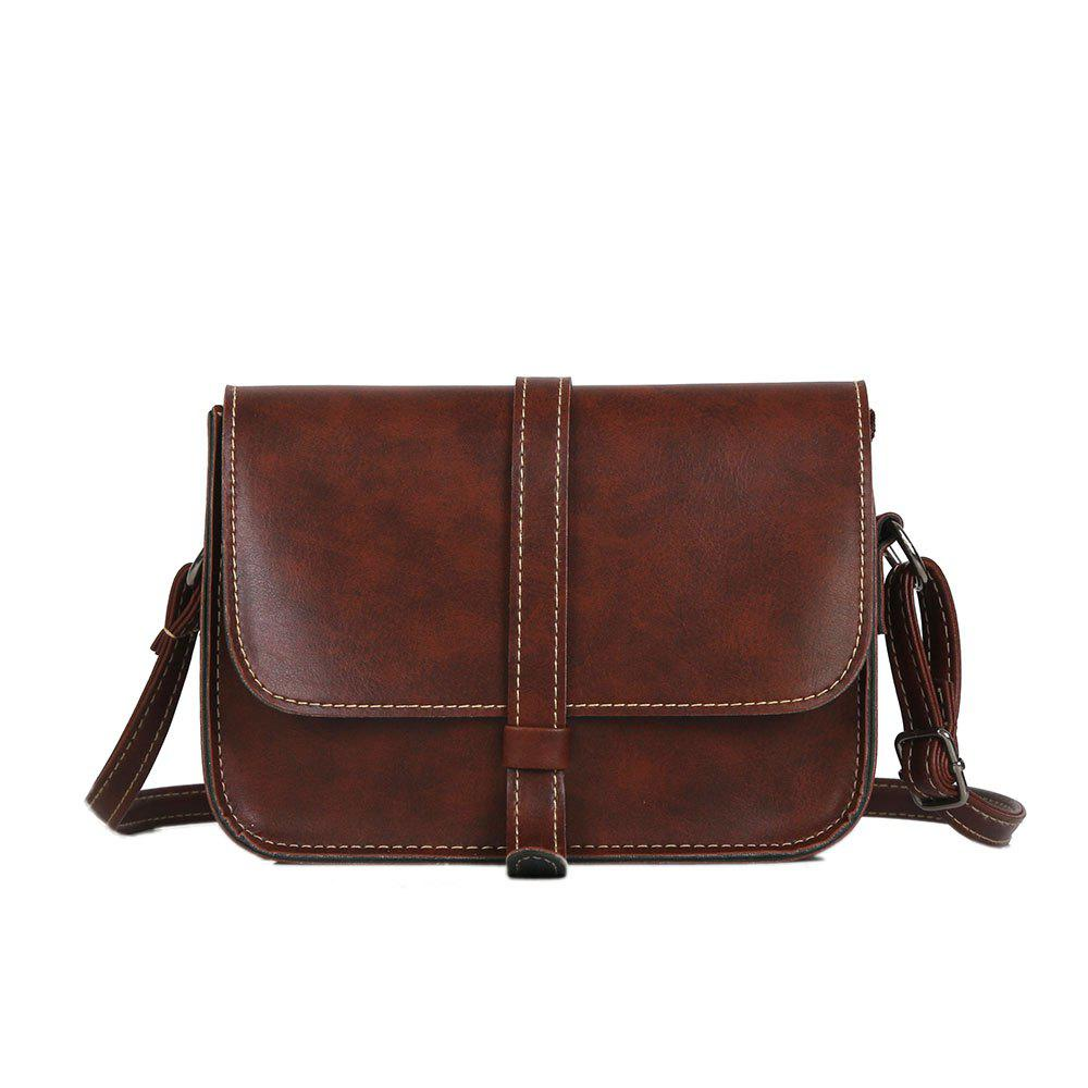 Outfits Fashion  PU Lady Satchel Simple   Belt Small Square Bag Trip Small