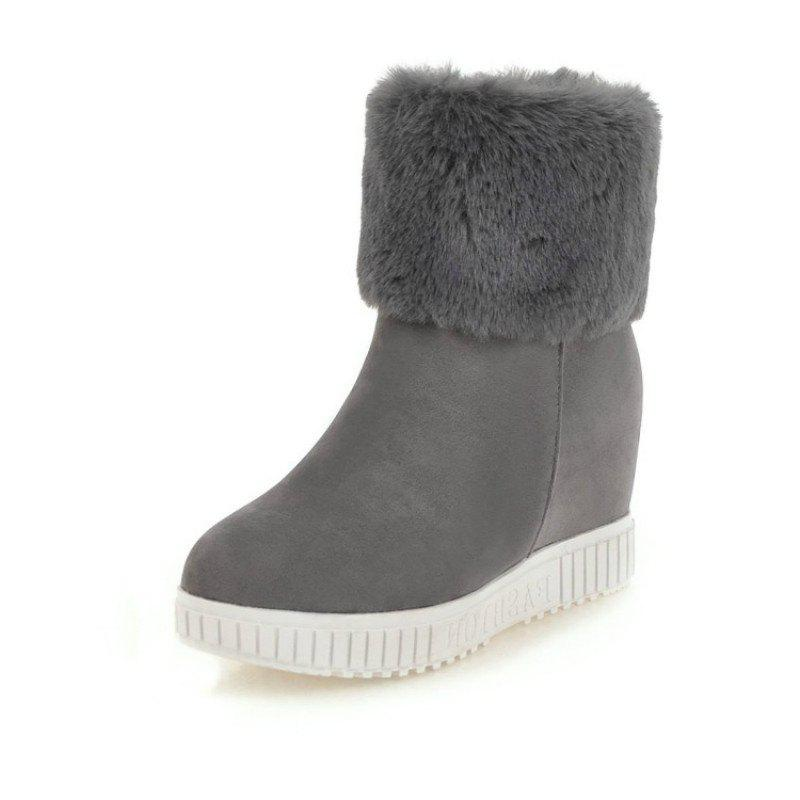 Shops Increased Fashion Student Short Boots in Round Head