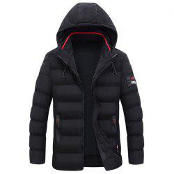 New Man Fashion Full Sleeve with Cap Warm Solid Parka Coat -