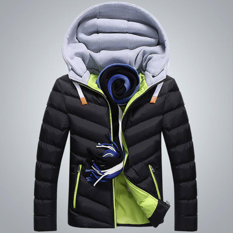 Latest New Man Fashion Full Sleeve with Cap Warm Parka