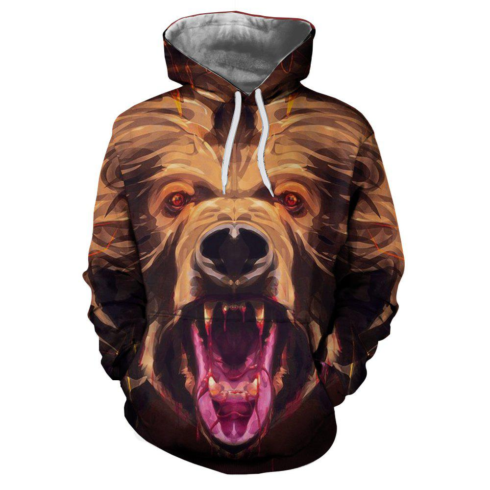 Sweat-shirt de vente chaude de carte d'animal d'impression 3D de mode