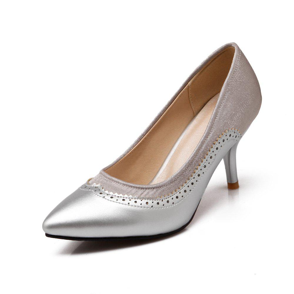 New Women Shoes with High Heel Shallow Head