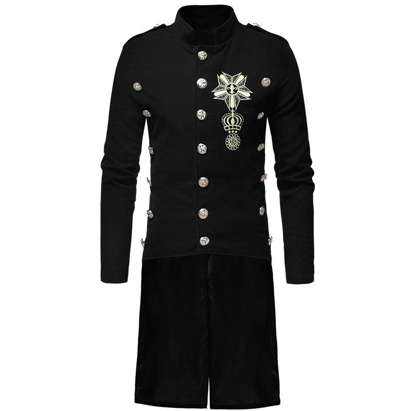 Cheap Men's Fashion Casual Collar Slim and Long Woolen Trench Coat