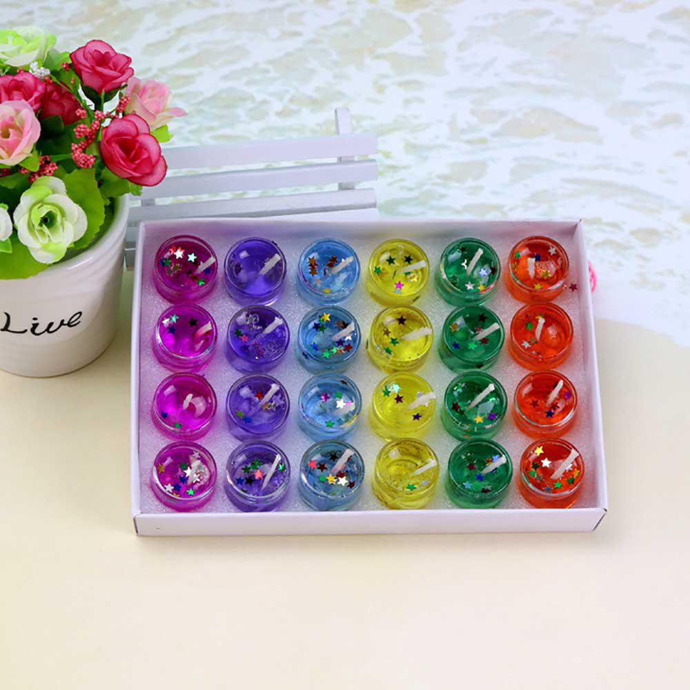 Hot 24 pieces festival items fashion Colored jelly candle