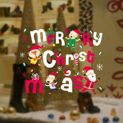 2PCS Christmas Restaurant Decorates Shop Window To Remove Wall Stickers -