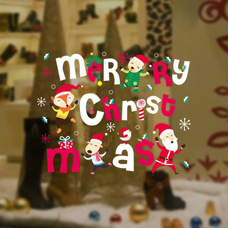 Online 2PCS Christmas Restaurant Decorates Shop Window To Remove Wall Stickers