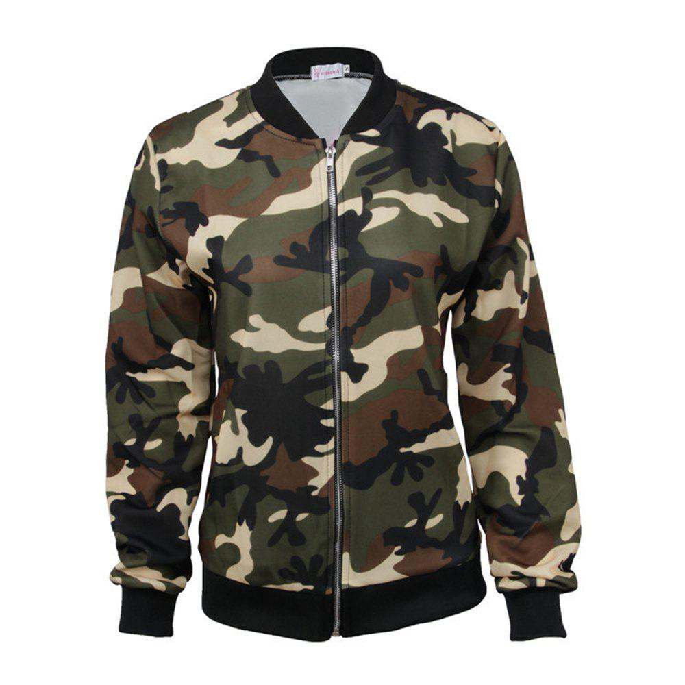 Outfits Camouflage Jacket Zipper Jacket