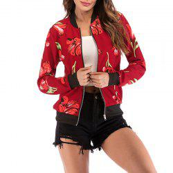 Women'S Colorful Printed Jacket Ladies Zipper Cardigan -