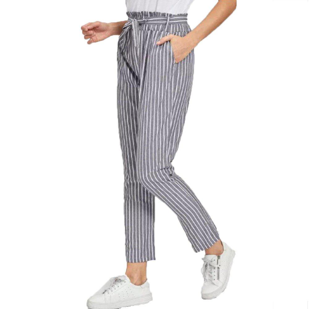 Cheap Women's Slimming Striped Trousers