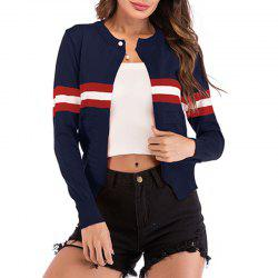Long Sleeve Stripe Knitt Cardigan Jacket -