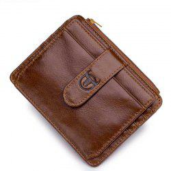 First Layer Cowhide Men's Multi-Card Commercial Bank Card Package -