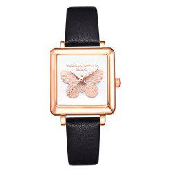 Lvpai P711 Butterfly Watch Rose Gold Frame Alloy Quartz Watch Female Watch -