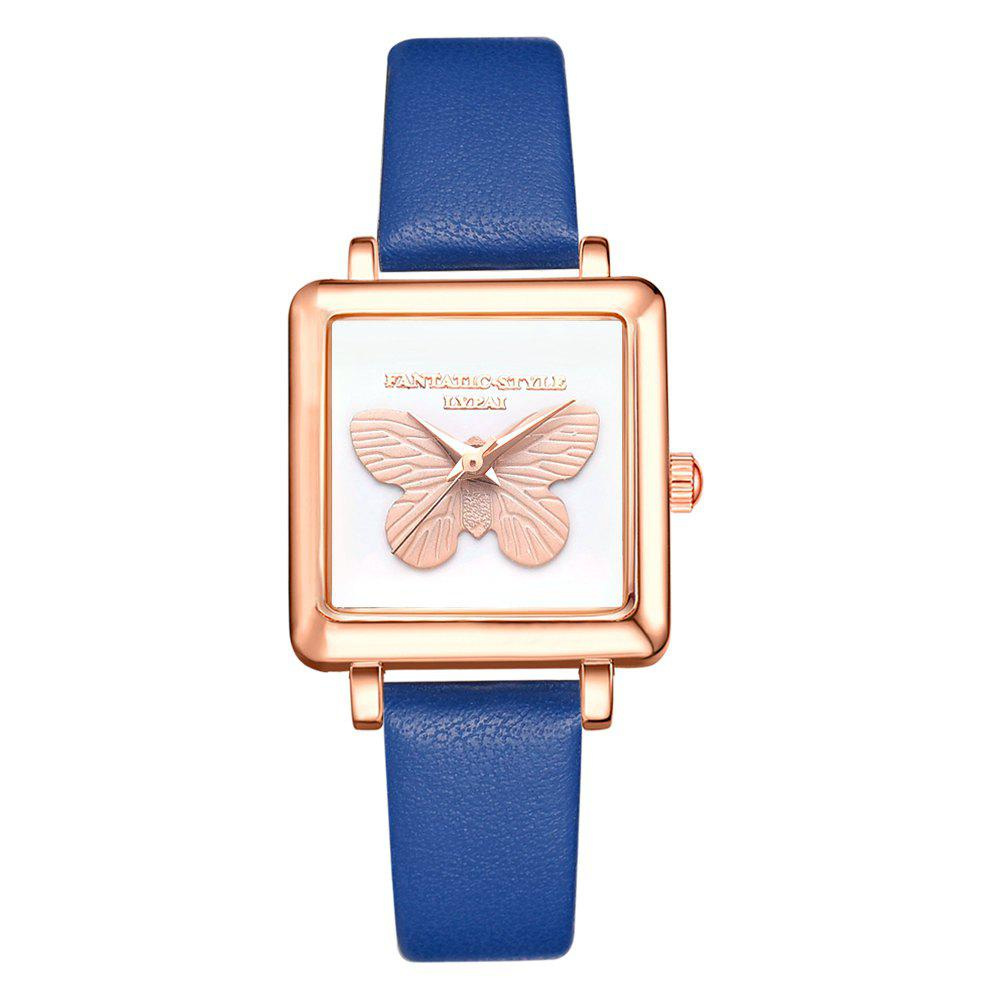 Outfits Lvpai P711 Butterfly Watch Rose Gold Frame Alloy Quartz Watch Female Watch