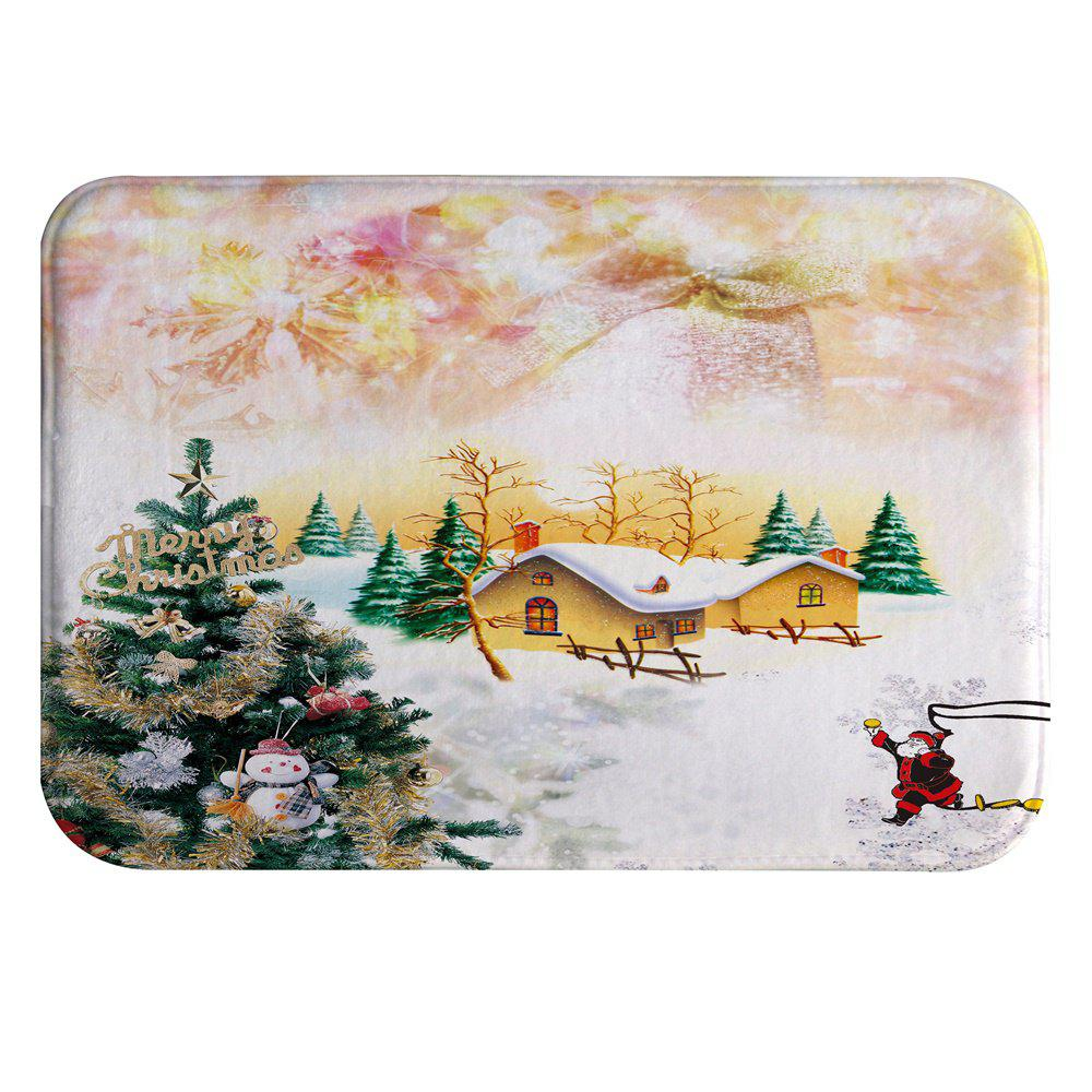 2018 Snow Christmas House Digital Printed Flannel Memory Cotton Mat ...