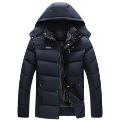 New Man Fashion Full Sleeve with Cap Solid Thicken Parka -