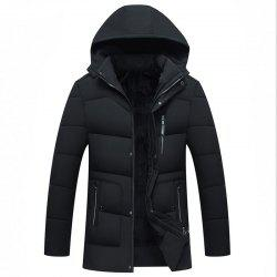 New Man Fashion Full Sleeve with Cap Solid Warm Casual Parka Coat -