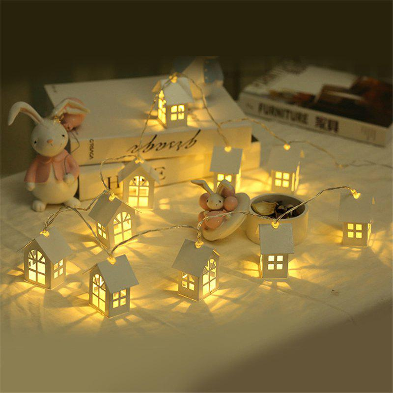 Discount 10PCS LED Christmas Tree House Style Fairy Lights Led String Wedding Decoration