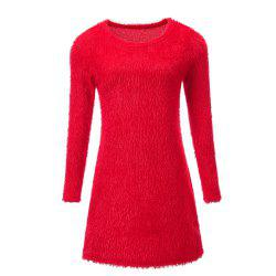 Plush Long Sleeved Mini Dress -