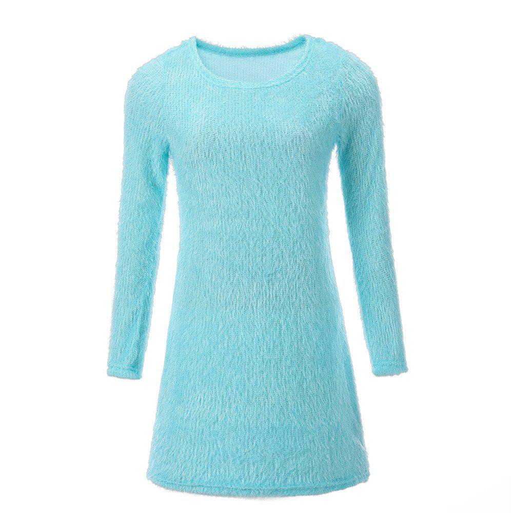 Hot Plush Long Sleeved Mini Dress