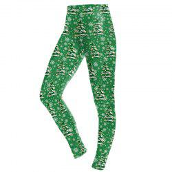 Christmas Tree Pattern Print Clothes Costume  Women Sport Leggings -