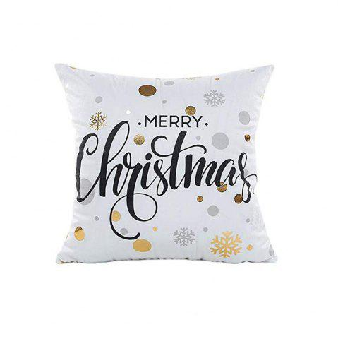Gold Stamping Print Snowflakes Merry Christmas Series Throw Pillow  Cushion Case - MULTI-A