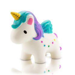 Squishies Slow Rising Cute Colored Flying Horse for Kids Party -