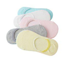 5 Pairs of Cotton Boys and Girls Baby Boat Socks -