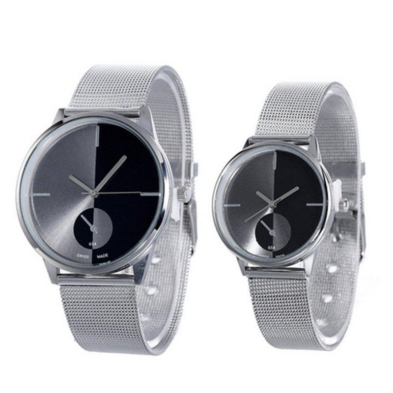 Trendy Fashion Netted Couple Watches