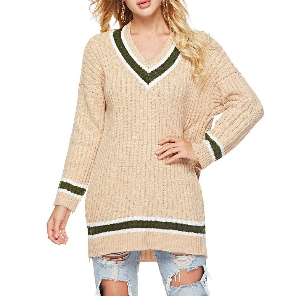 New Autumn And Winter V-Neck Long-Sleeved Shirt Bottoming Sweater