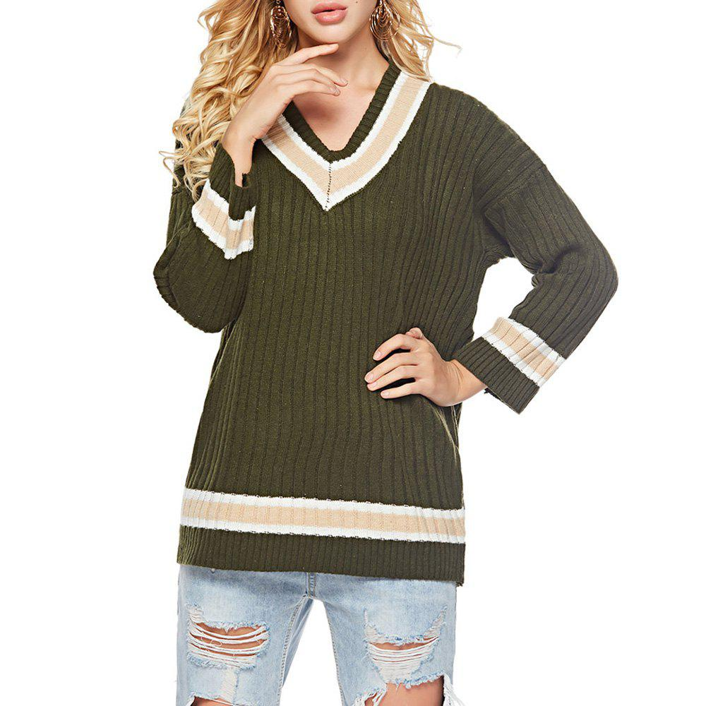 Buy Autumn And Winter V-Neck Long-Sleeved Shirt Bottoming Sweater