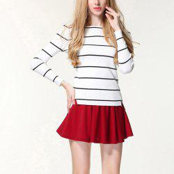 Autumn And Winter Striped Knit Bottoming Sweater -