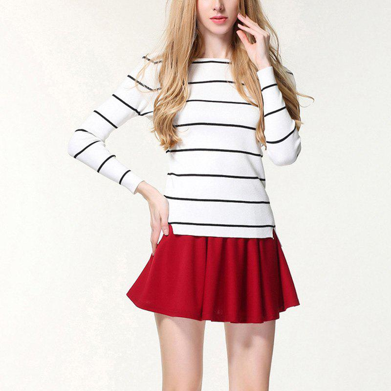 Fashion Autumn And Winter Striped Knit Bottoming Sweater