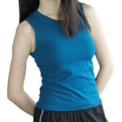 Women Solid Tight Sports Yoga Sleeveless Breathable Tank Top Gym Fitness Vest -