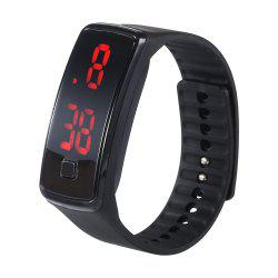 Fashion gift youth sports jelly silicone LED watch -