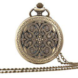 A Turquoise Tan Pocket Watch -