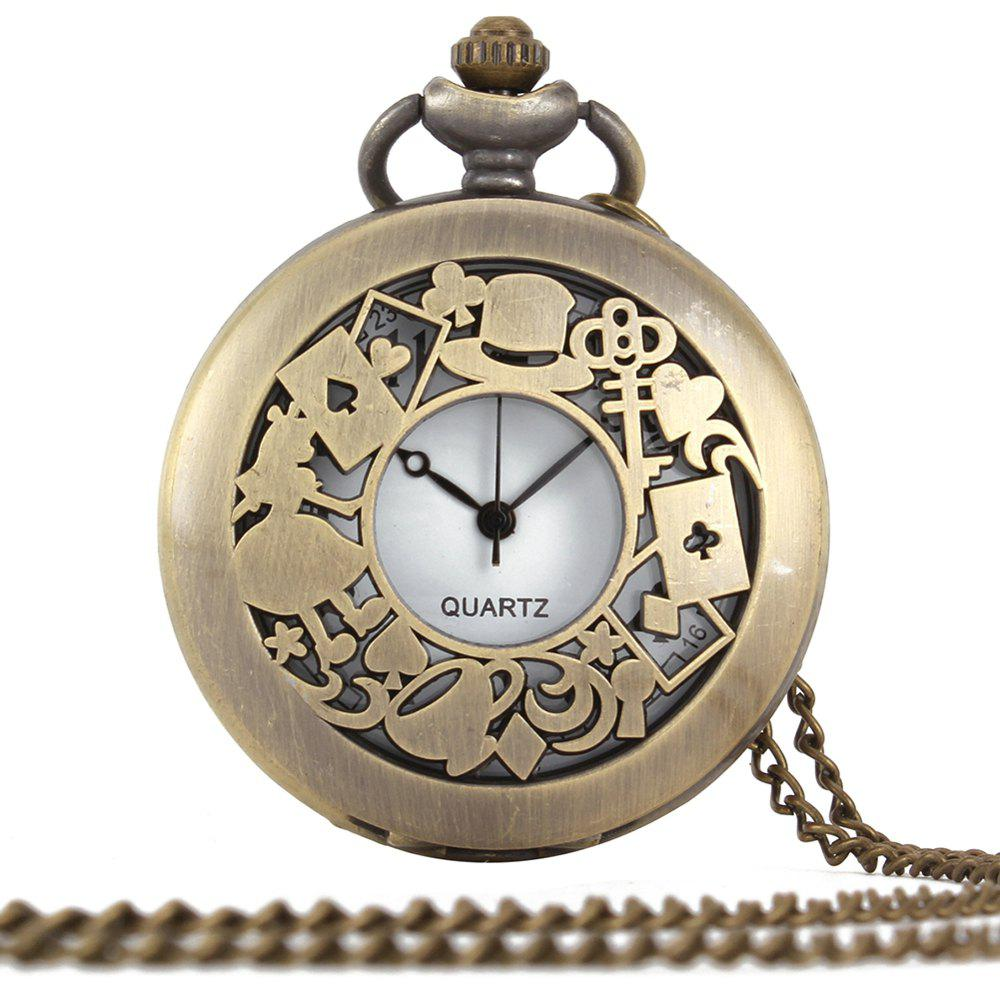 Trendy Turquoise Ribbon Pocket Watch