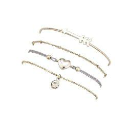 Women'S Fashion Bracelet Arrow Heart Peach Heart Bracelet Four Sets Female -