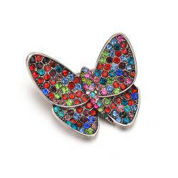 Fashionable Upscale Color Butterfly Brooch -