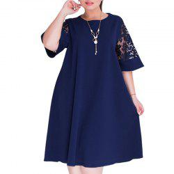 summer Dresses big size 2018 Plus Size women Knee-Length dress -
