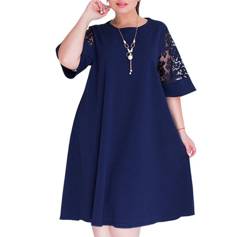 Unique summer Dresses big size 2018 Plus Size women Knee-Length dress