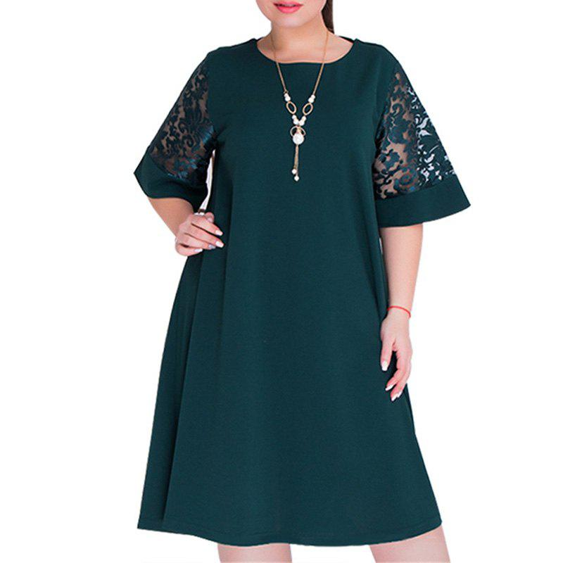 Summer Dresses Big Size 2018 New Plus Size Women Length Dress