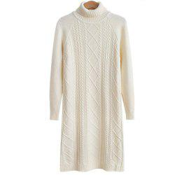 Women's Long Sleeve Leisure Sweater Dress -