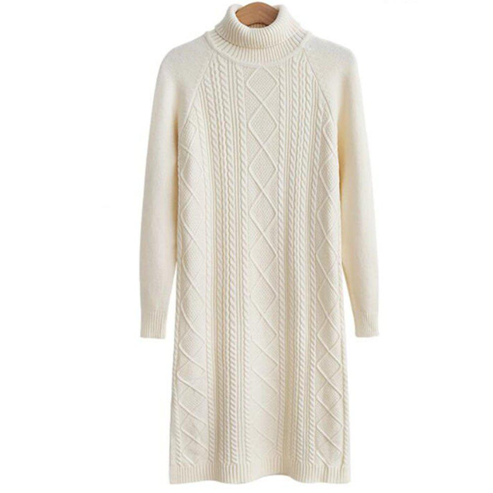 New Women's Long Sleeve Leisure Sweater Dress