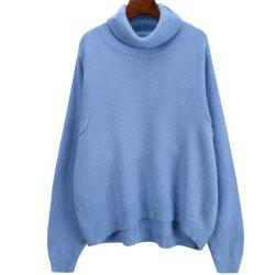 Women's Loose Long Sleeve Turtleneck Sweater -