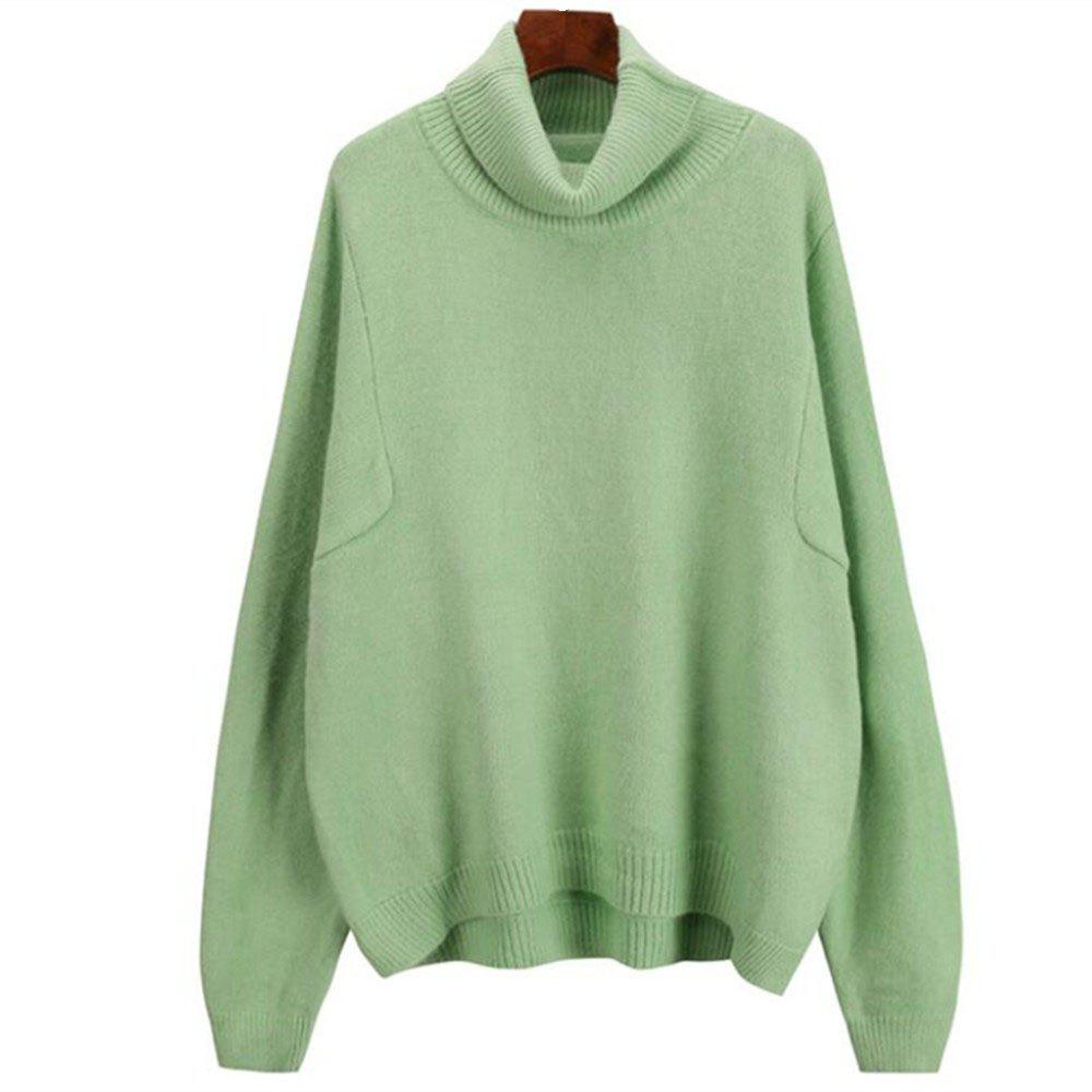 Outfit Women's Loose Long Sleeve Turtleneck Sweater
