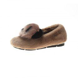 Warm Women Flats Platform Panda Chaussures Casual - Marron Camel EU 40